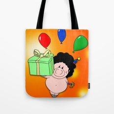 Birthday Pig Tote Bag