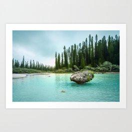 Remote Corner of Paradise at Isle of Pines, New Caledonia. Art Print