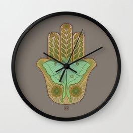 Luna Hamsa Wall Clock