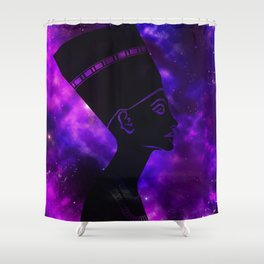 Queen Nefertiti Nebula Dark Space Skyscape Shower Curtain