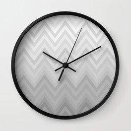 Chevron Fade Grey Wall Clock