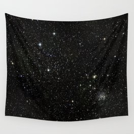 Universe Space Stars Planets Galaxy Black and White Wall Tapestry