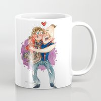 the goonies Mugs featuring Goonies Hug by Super Group Hugs