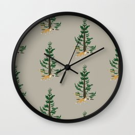 Forest Whimsy Wall Clock