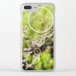 Green Dream Catcher Clear iPhone Case