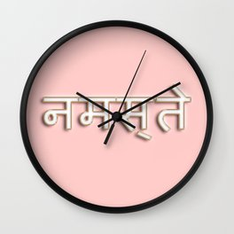 Namaste typography Wall Clock