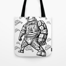 Robocop Robot Bear by RonkyTonk Tote Bag