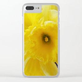 Yellow Daffodil Clear iPhone Case