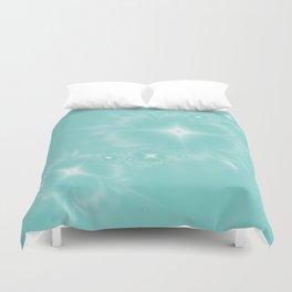 Fleur de Nuit in Aqua Tone Duvet Cover