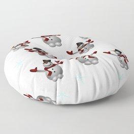 Snowmen and Snowflakes Floor Pillow