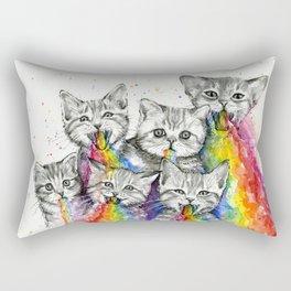 Kittens Puking Rainbows Rectangular Pillow