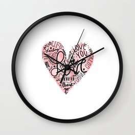 Happy National Valentines Day Wall Clock