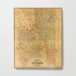 Map Of Minnesota 1885 Metal Print