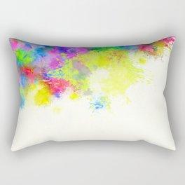 Paint Splashes Rectangular Pillow