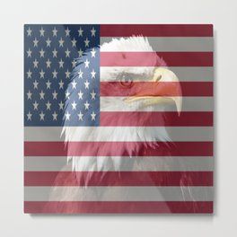 United States Freedom Eagle Metal Print
