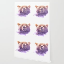 BEAR SUPERIMPOSED WATERCOLOR Wallpaper