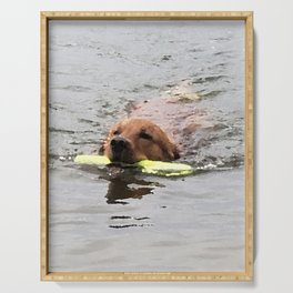 Golden Retriever Water Retrieve -  Leo Serving Tray