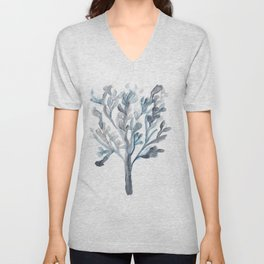 Watercolour Tree 5 |Modern Watercolor Art | Abstract Watercolors Unisex V-Neck