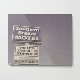 Southern Breeze Motel Metal Print