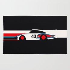 Moby Dick - Vintage Porsche 935/70 Le Mans Race Car Rug