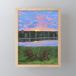 Facing Each New Day...Together Framed Mini Art Print