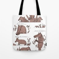 badger Tote Bags featuring badger by Jon Boam