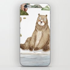 Mr.Brown is chilling by the river. iPhone & iPod Skin