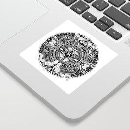 deer mandala Sticker