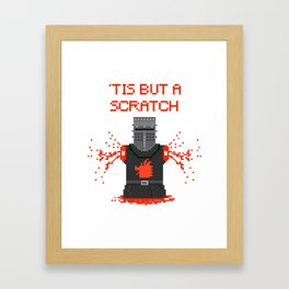 Monty Phyton black knight Framed Art Print