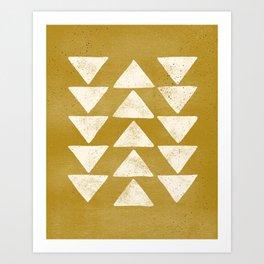 Flying Geese - Mustard Art Print