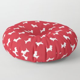 Cairn Terrier dog breed red and white dog pattern pet dog lover minimal Floor Pillow