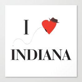 I heart Indiana Canvas Print
