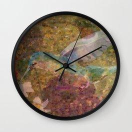 """ Hummingbirds "" Wall Clock"