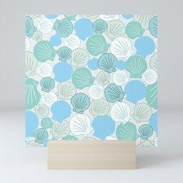 Scallops-gray Mini Art Print