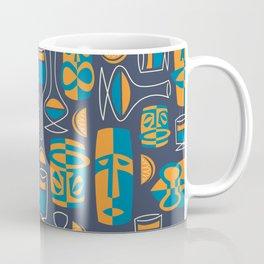 Tiki/Cocktail Pattern Coffee Mug