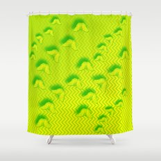 Camouflaged butterflies in green Shower Curtain
