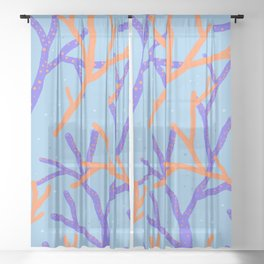 Corals Sheer Curtain