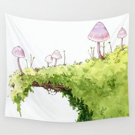 Mushrooms and Moss Wall Tapestry