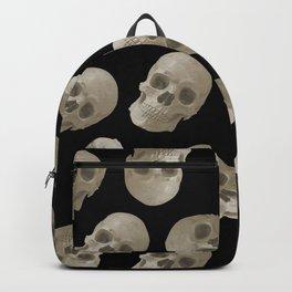 Halloween Skull pattern design black background Backpack