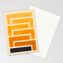 Yellow Ocher Mid Century Pattern Stationery Cards