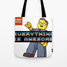 Kirby Krackle -Everything Is Awesome! (Lego style shirt) Tote Bag