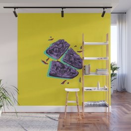 Favourite Food - Yellow by Chrissy Curtin Wall Mural