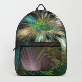 Colorful Abstract Fractal Art Backpack