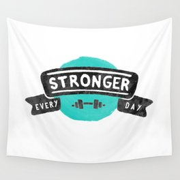 Stronger Every Day (dumbbell) Wall Tapestry