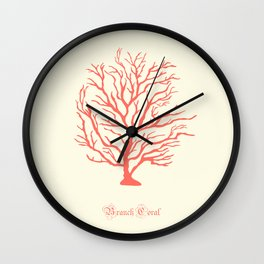AFE Branch Coral, Living Coral Wall Clock