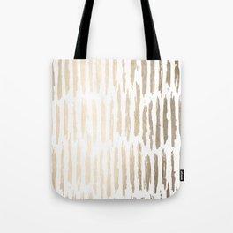 White Gold Sands Vertical Dash Tote Bag