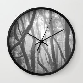 Dream woods. Garajonay National Park. Square. BW Wall Clock