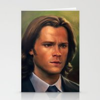 sam winchester Stationery Cards featuring Sam Winchester from Supernatural by Annike