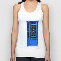 greek Tank Tops featuring Greek Blue by Steve P Outram