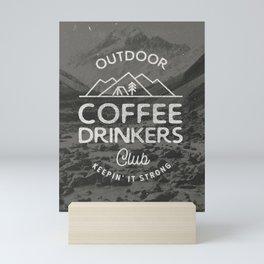 Outdoor Coffee Drinkers Club Mini Art Print